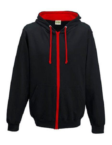 Hood Hood Hood - Huvtröja JH053, svart/röd, storlek M 2df82b