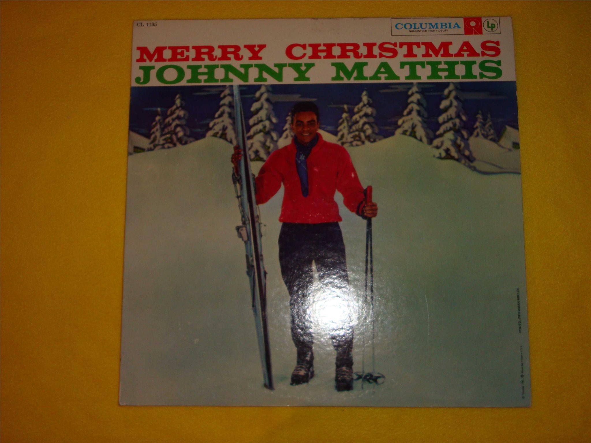 JOHNNY MATHIS - MERRY CHRISTMAS LP (247966636) ᐈ Köp på Tradera