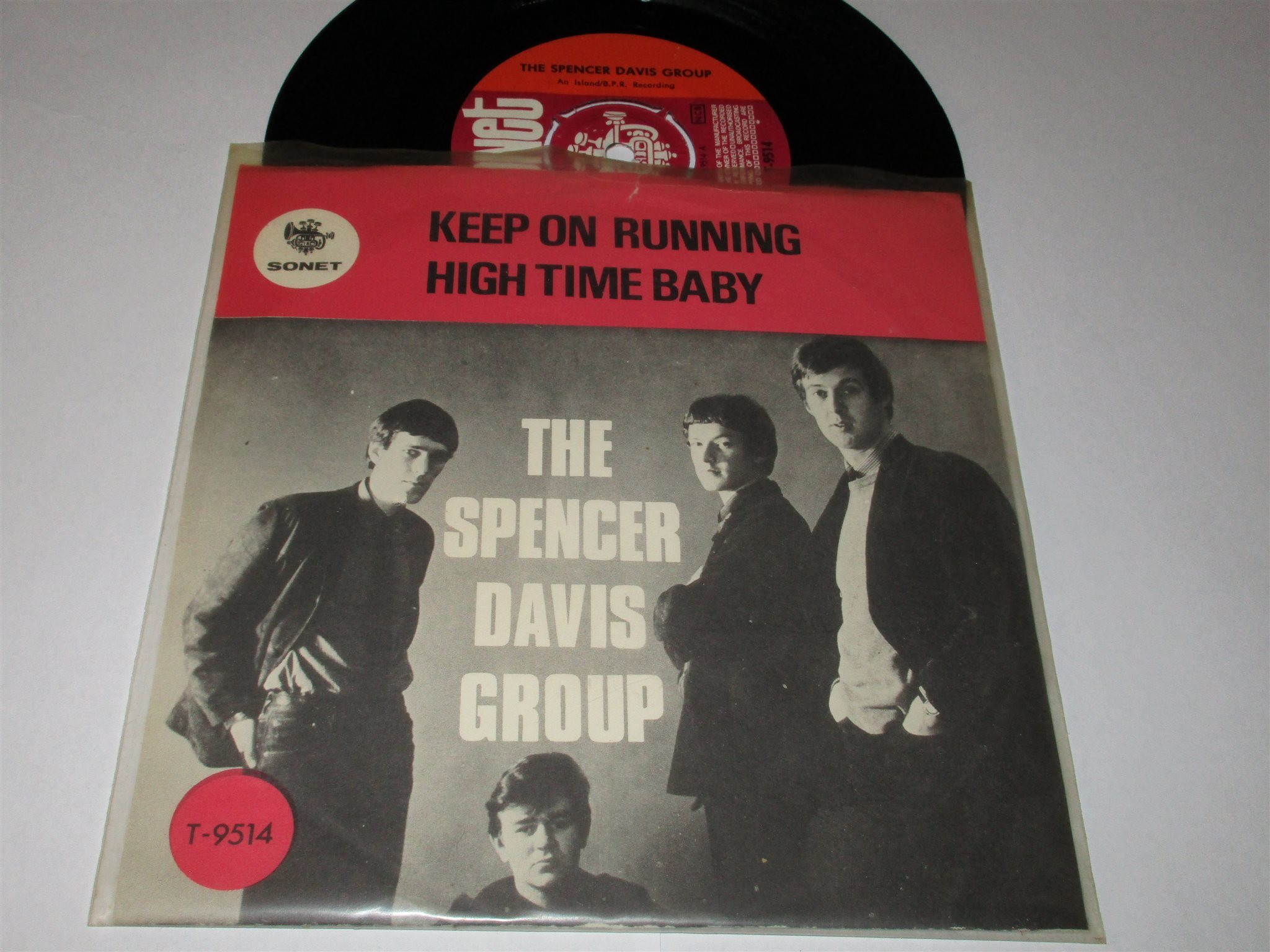 THE SPENCER DAVIS GROUP SWE SINGEL KEEP ON RUNNING