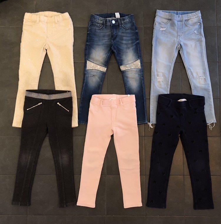 Klädpaket 6 par byxor flicka strl 110 (339497215) ᐈ Köp på Tradera cfc5ca9d849df