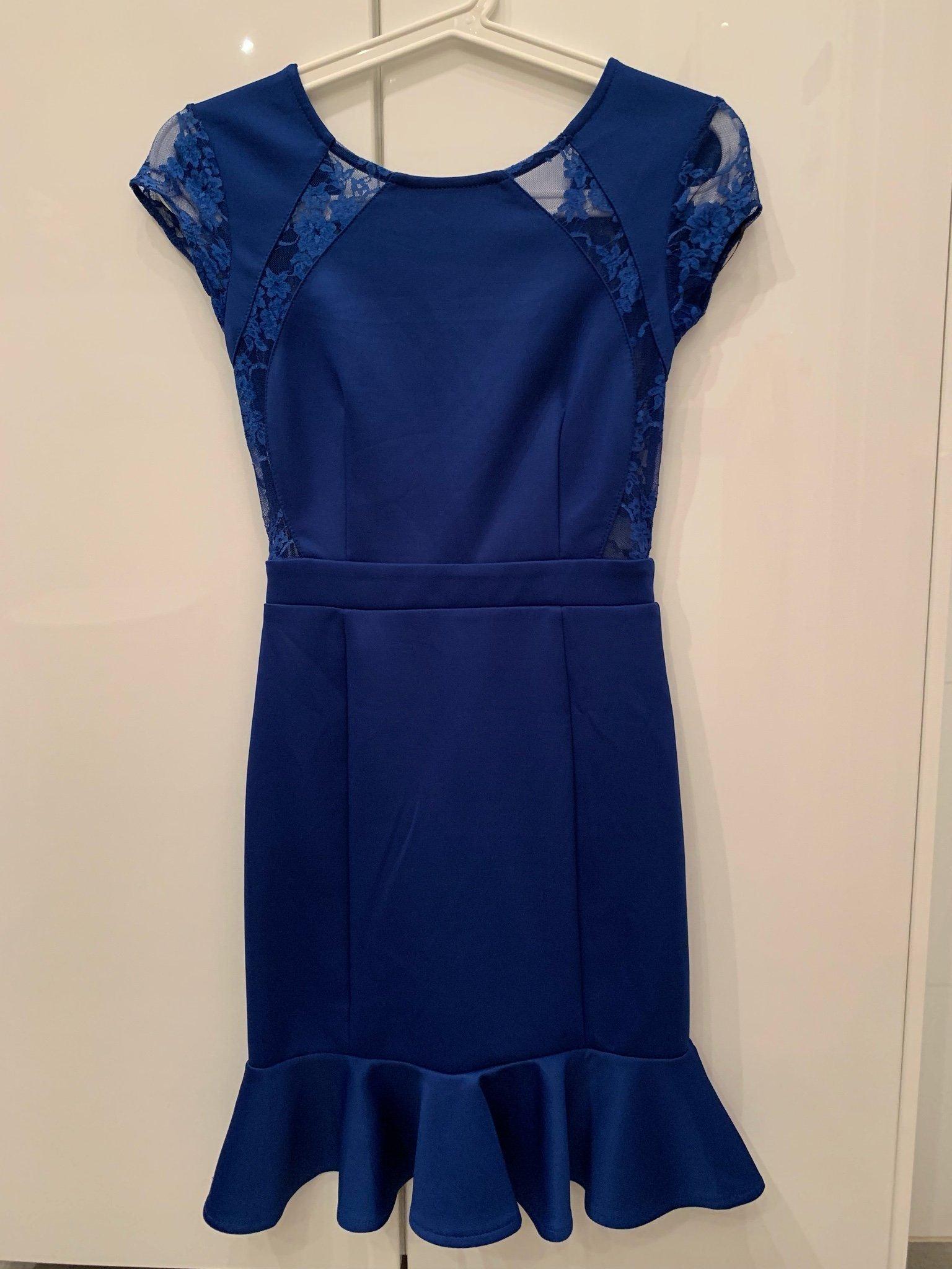 c49f2ee4fd1 Blå klänning från asos med spets xxs (348699869) ᐈ Köp på Tradera