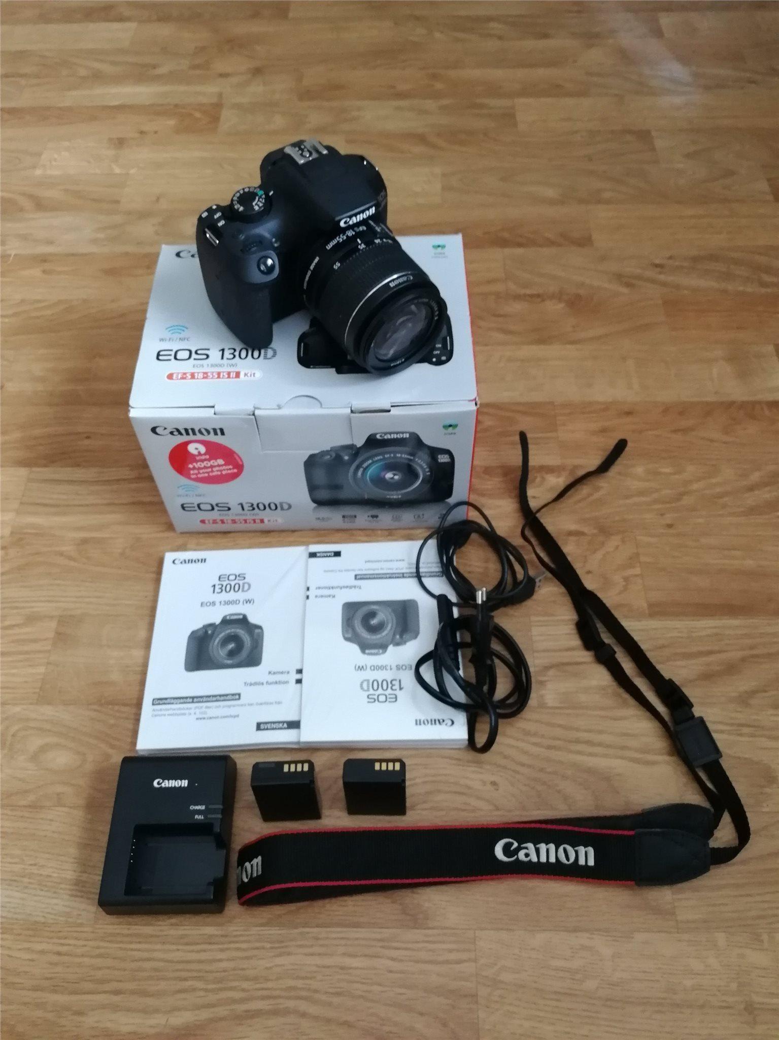 Canon Eos 1300d 18 55 Is Ii Ett 64gb Minnes 321946440 Kp Digital With Lens 55mm Minneskort