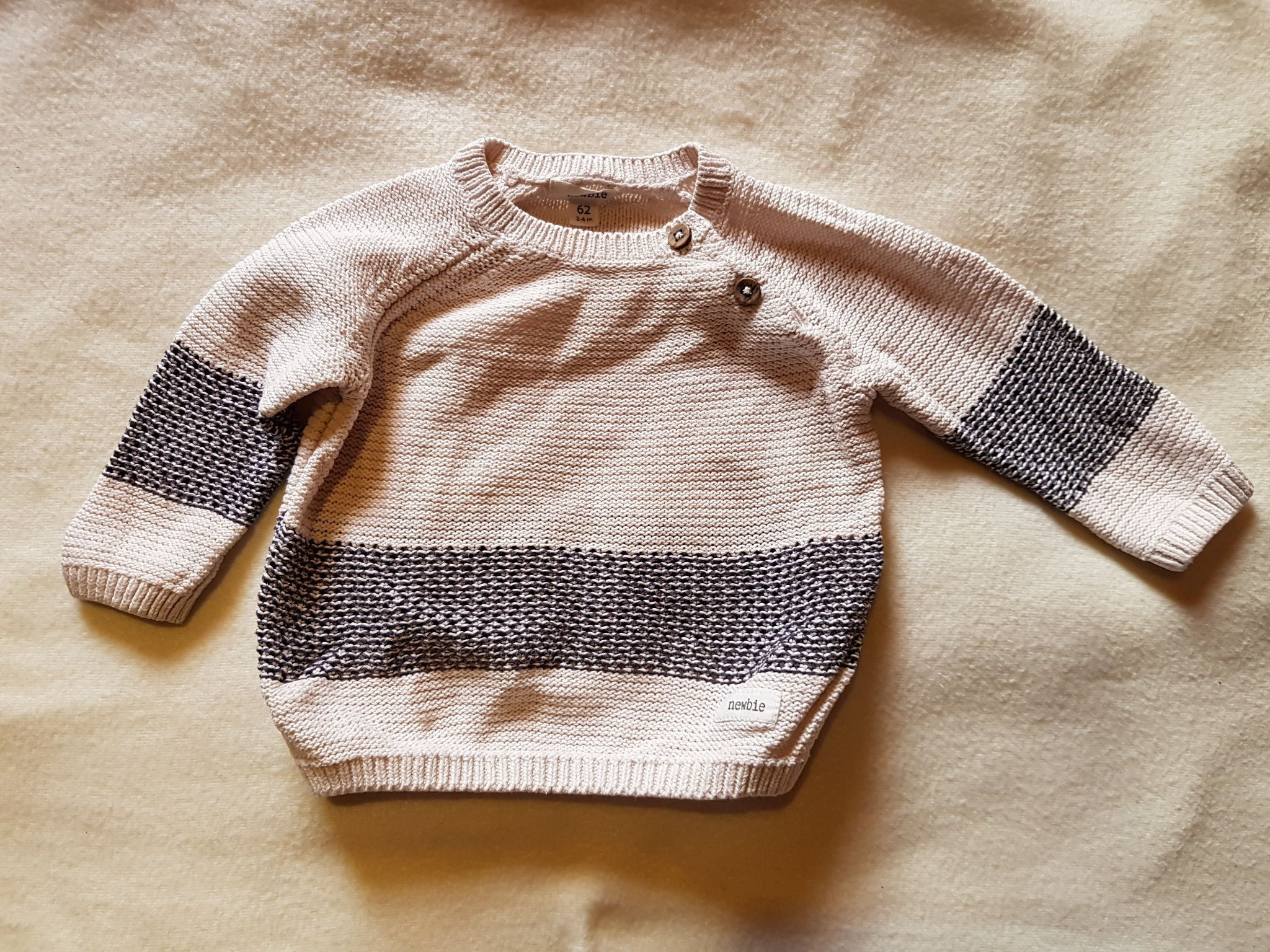 NEWBIE Stickad tröja, strl 62
