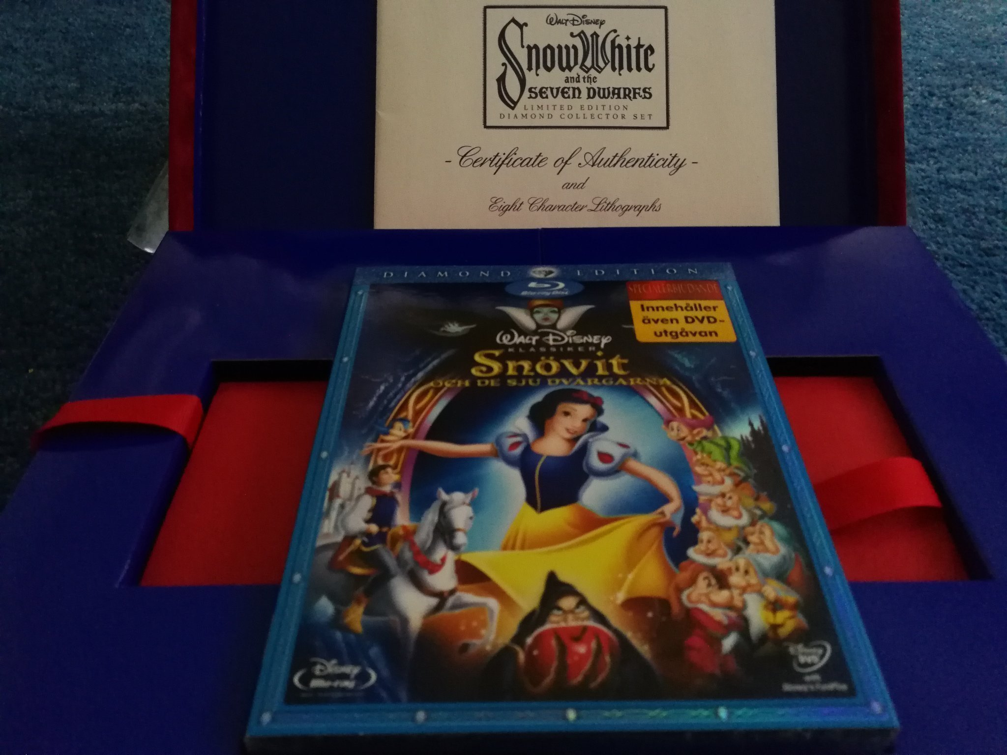 Walt Disney: Snövit och de sju dvärgarna! Limitet edition Diamond Collection Set