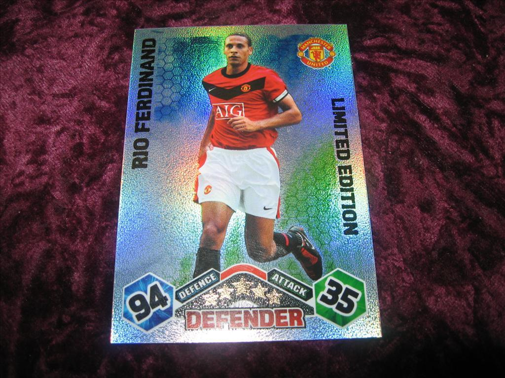 RIO FERDINAND-LIMITED EDITION-MANCHESTER UNITED-MATCH ATTAX 2009-10