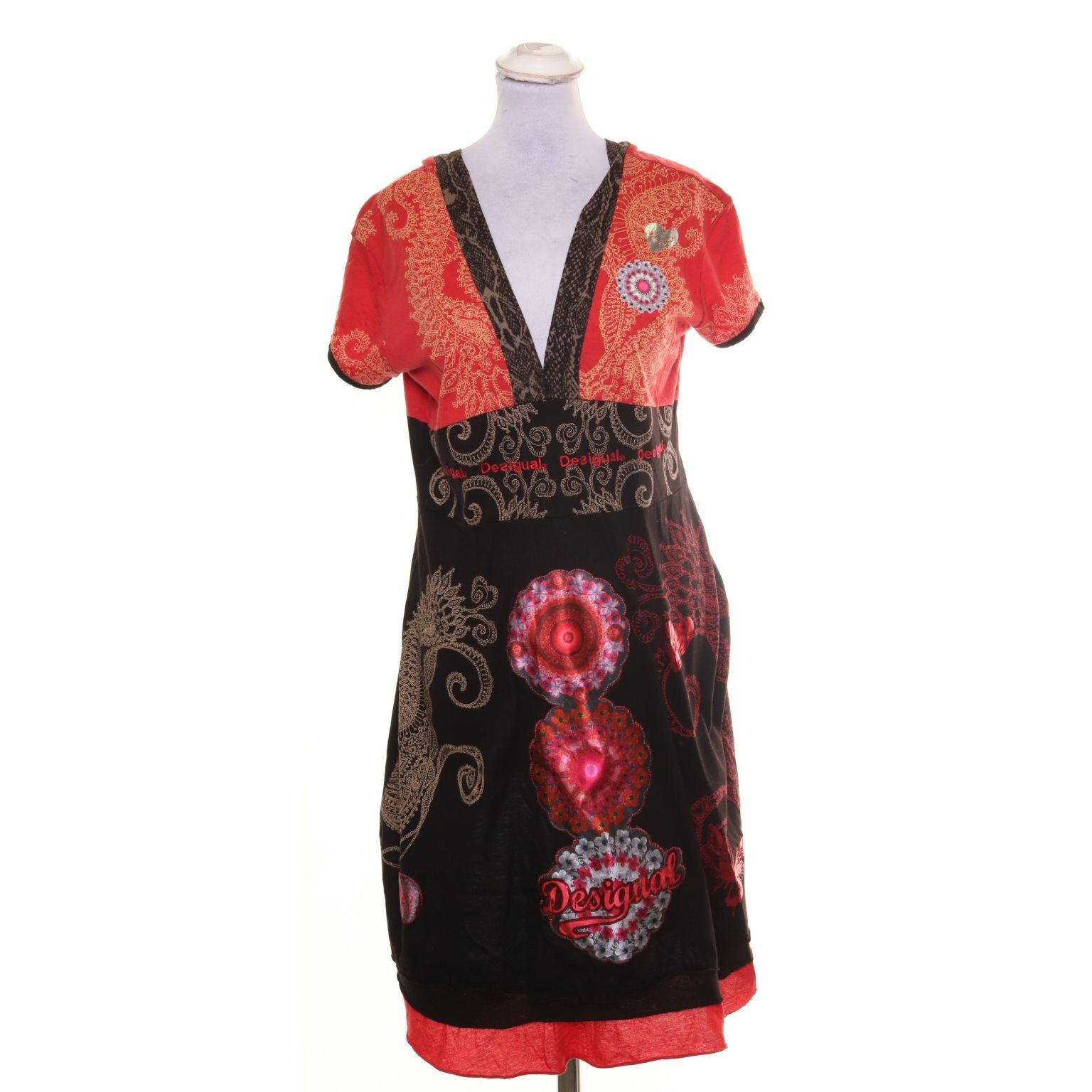 desigual klänning röd