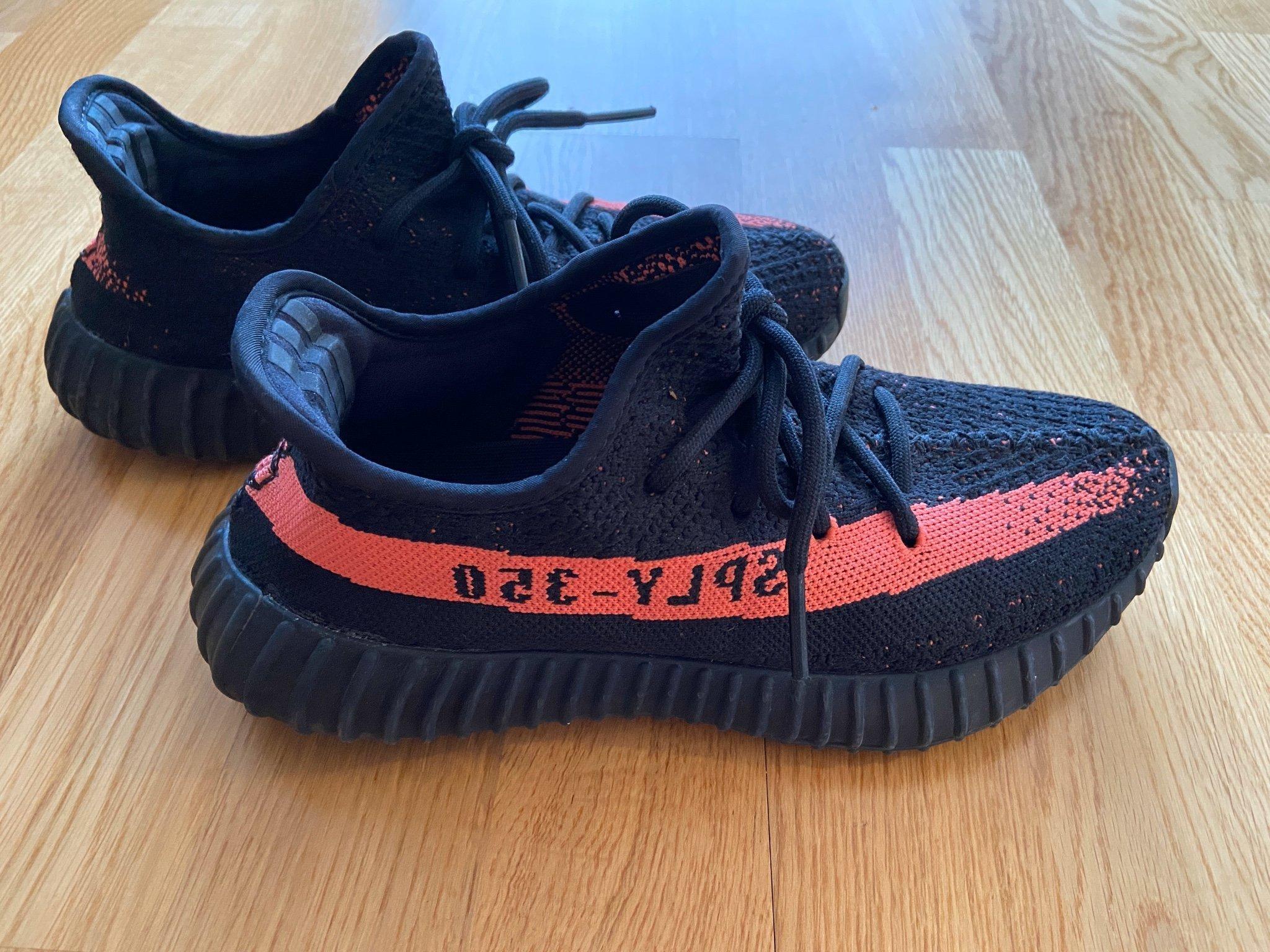 100% äkta Adidas Originals Yeezy Boost 350 v2 storlek 38