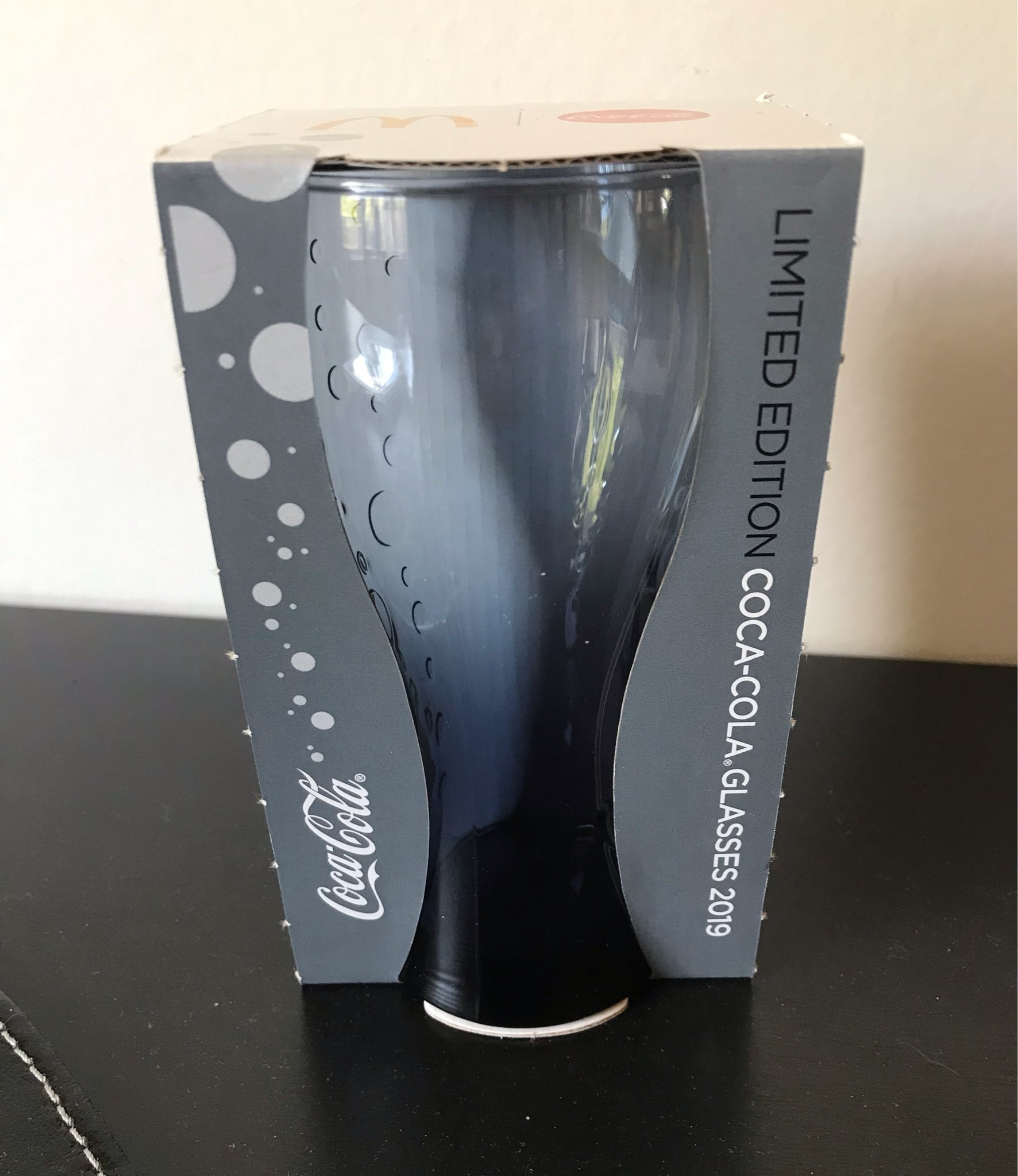 Coca-Cola glas McDonalds 2019. Svart. Limited Edition.