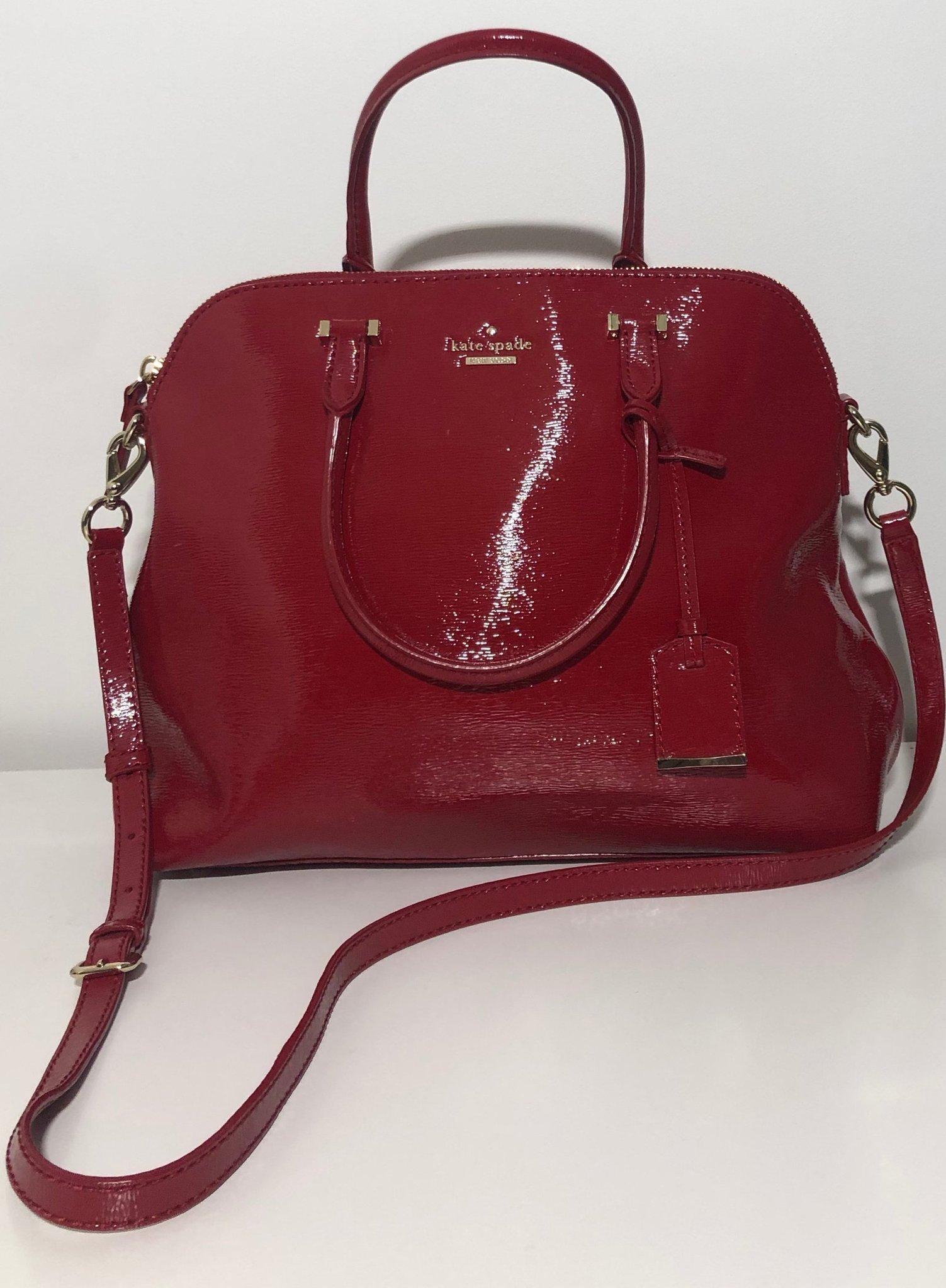Röd Kate Spade väska