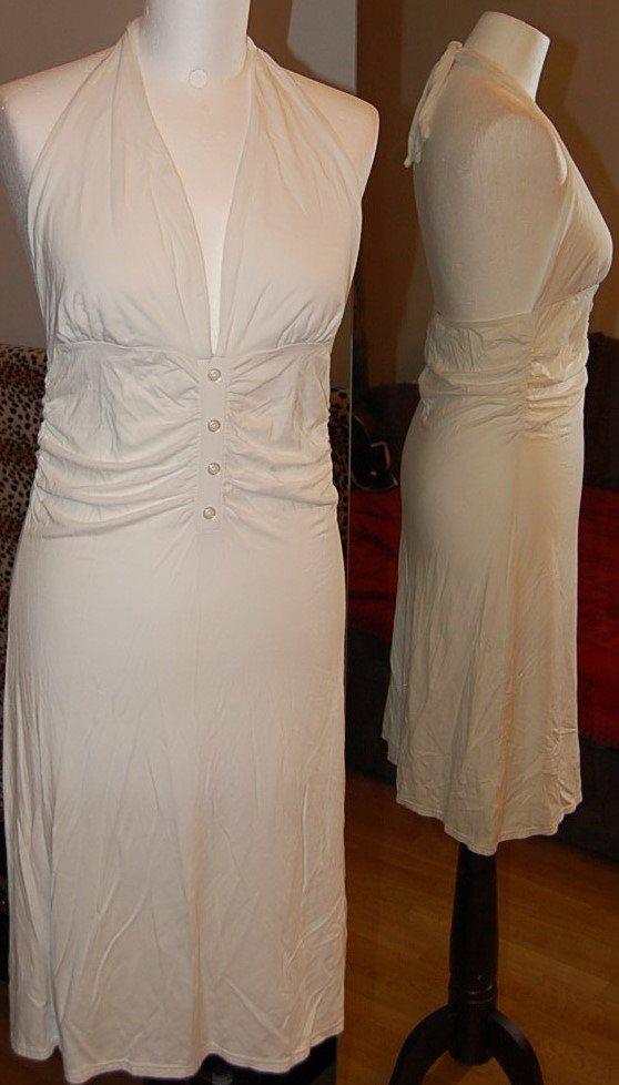 7a399cdbb4be Snygg vit halterneck stretch klänning från Glan.. (308721878) ᐈ Köp ...