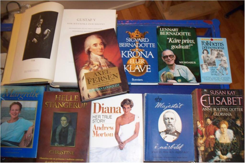 Kungligt, Gustav V, Oscar Oscar Oscar II, Diana, Margrete, Sigvard Bernadotte mm f02d76