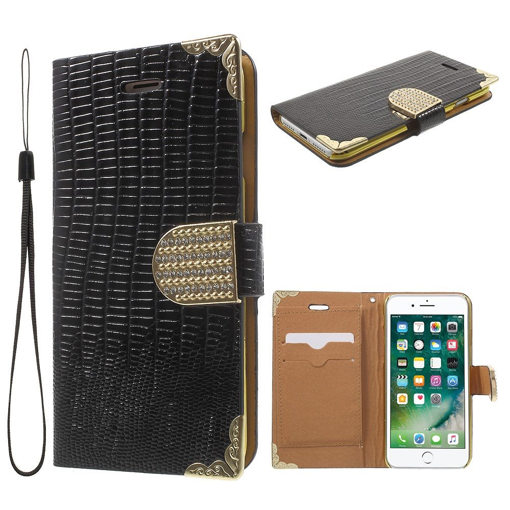 iPhone 7 plånbok i krokodil svart fodra.. (269371158) ᐈ CASE4YOU på ... 5be1ba441cabc