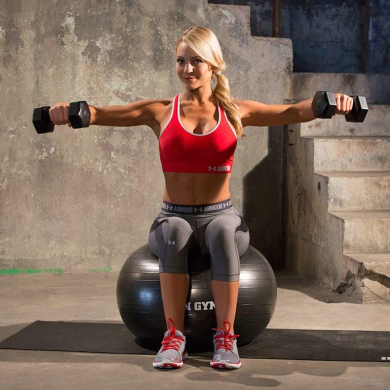 Iron Iron Iron Gym Träningsboll 65 cm gummi svart IRG029 7d51bb