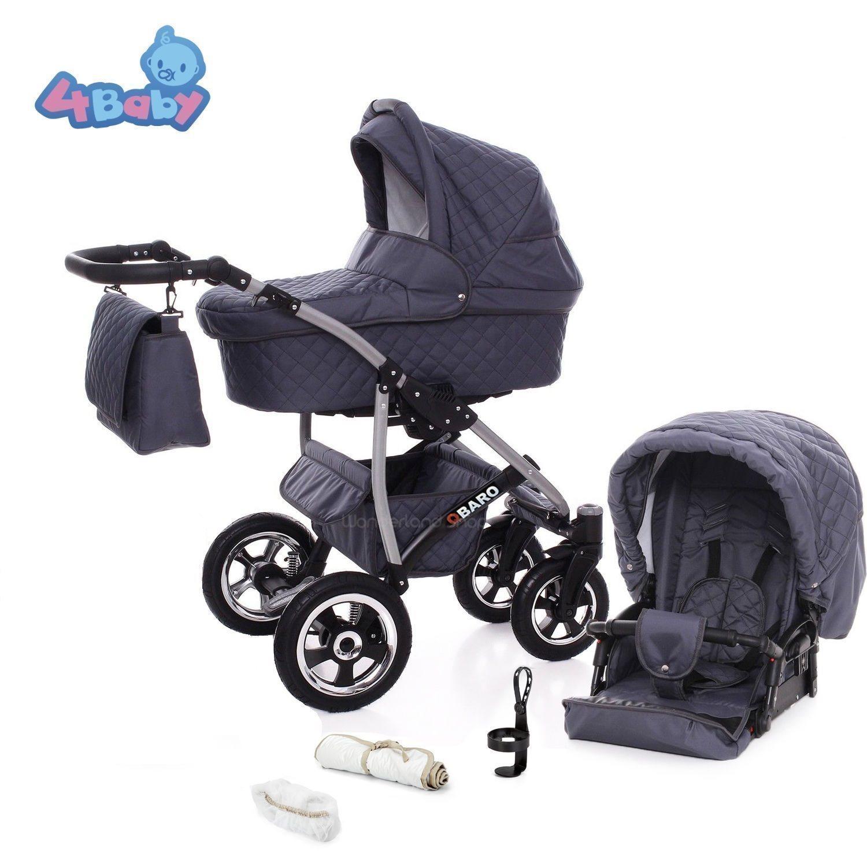 2019 QBARO duo kombi barnvagn med många tillbehör + FRIFRAKT ! 8 färger ! REA !!