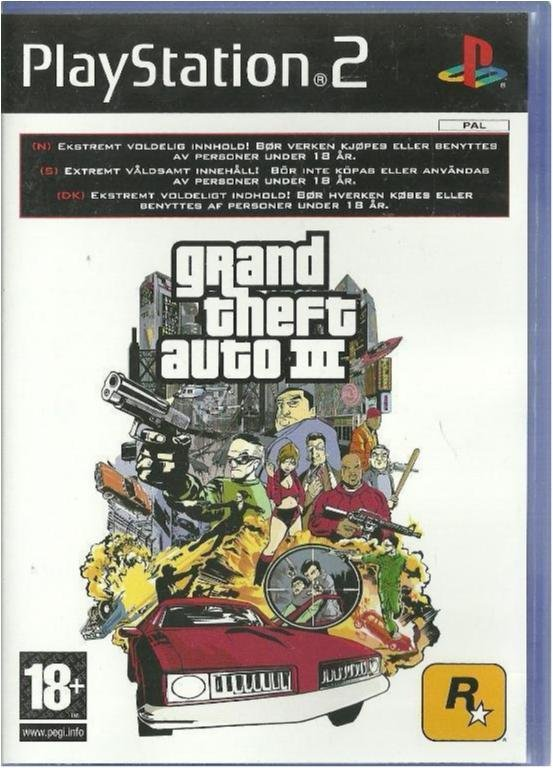 GRAND THEFT AUTO III ( PS2 SPEL)
