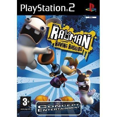 RAYMAN RAVING RABBIDS (endast skiva) t Sony Playstation 2, PS2