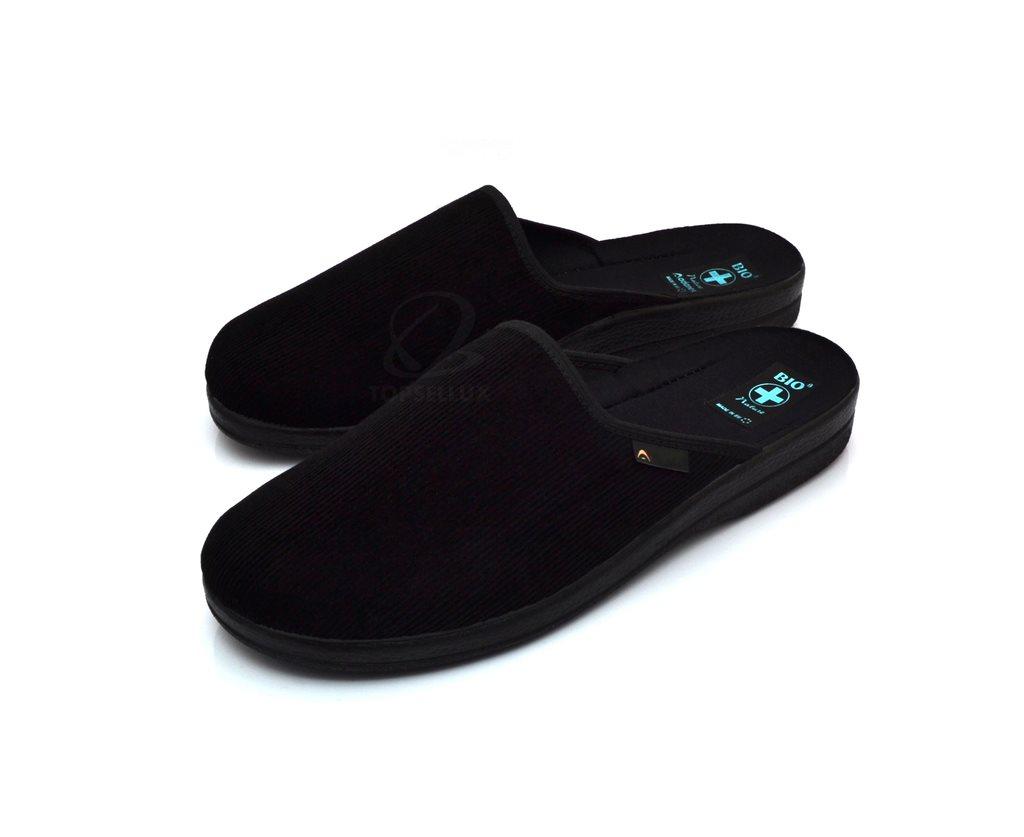4e706f2470e Nya lux mjuka svarta slip in mysiga tofflor herr skor för män inneskor stl  42