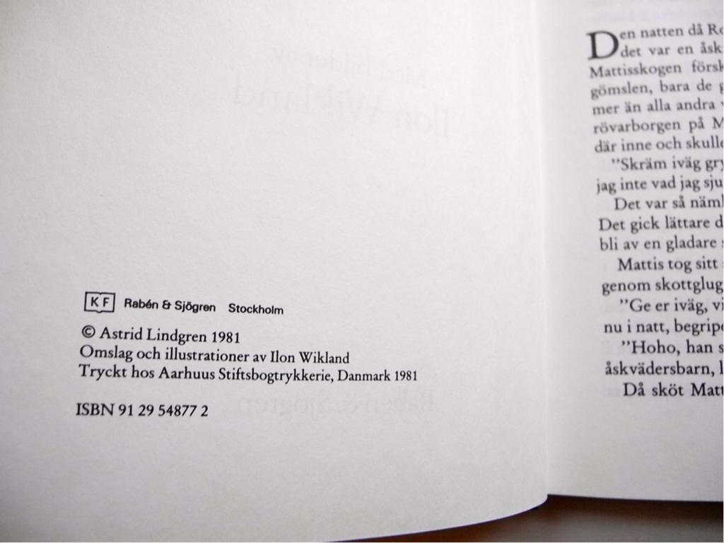 RONJA RÖVARDOTTER Astrid Lindgren förstaupplaga 1981 1981 1981 b0856f