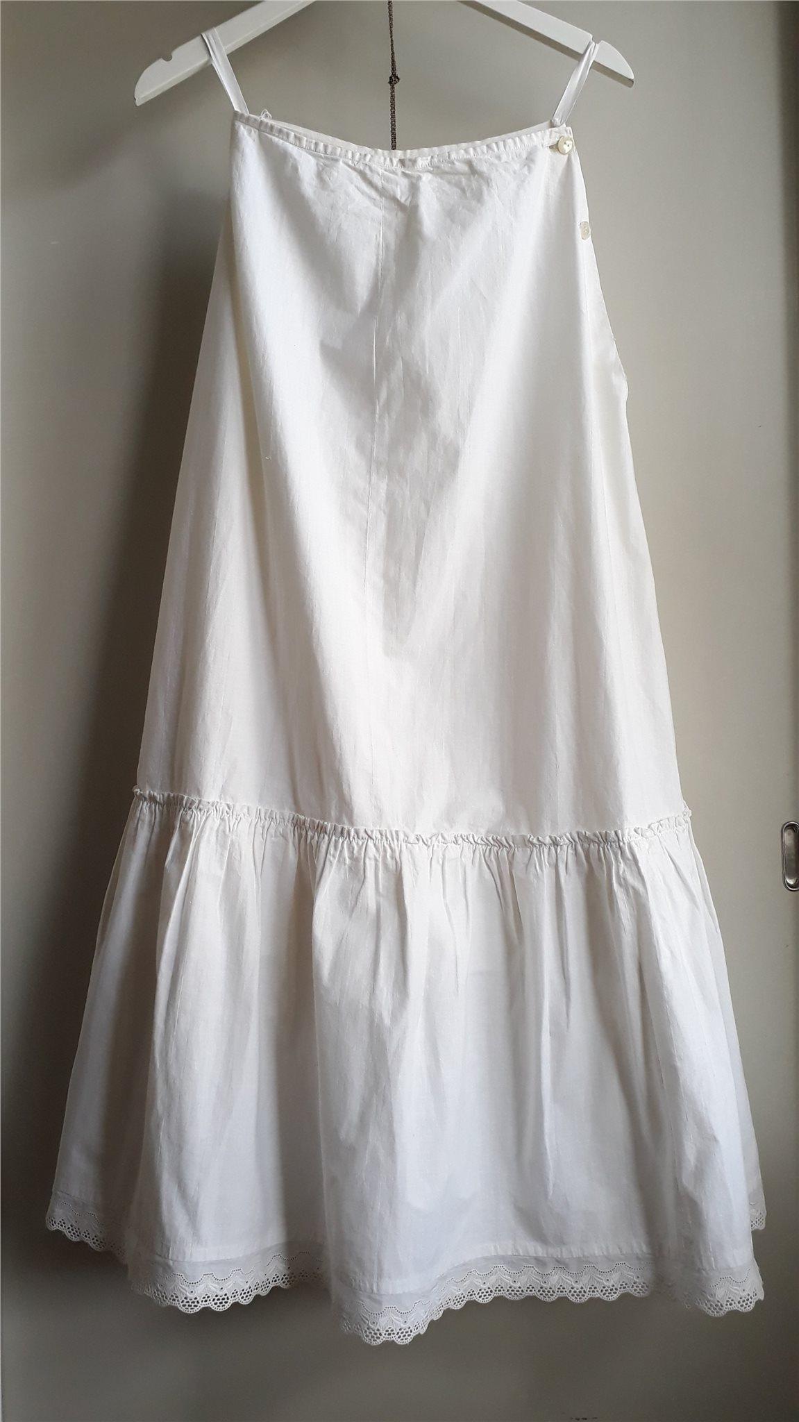 vit underkjol med spets