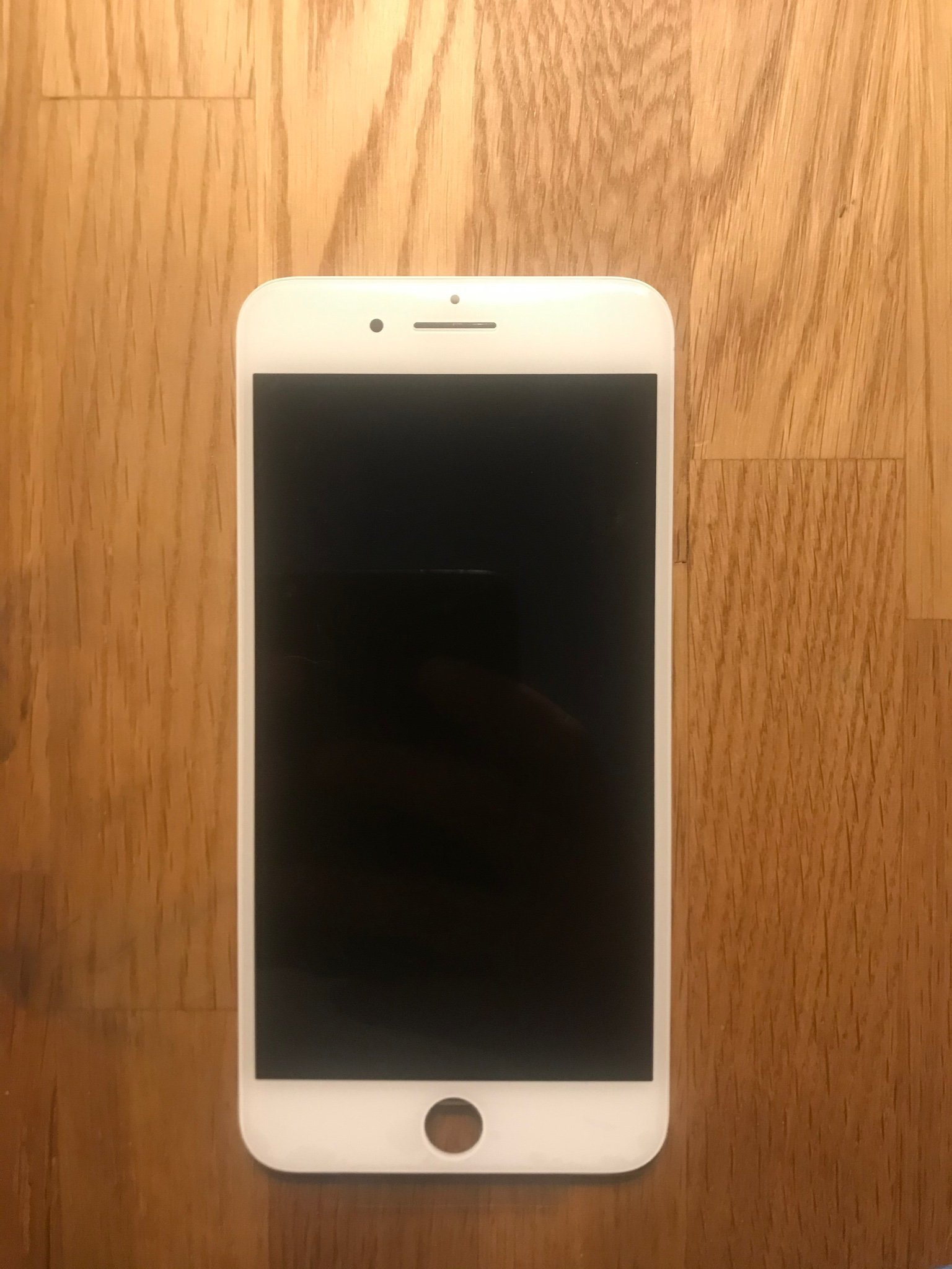 Iphone 8 Plus vit skärm med original LCD