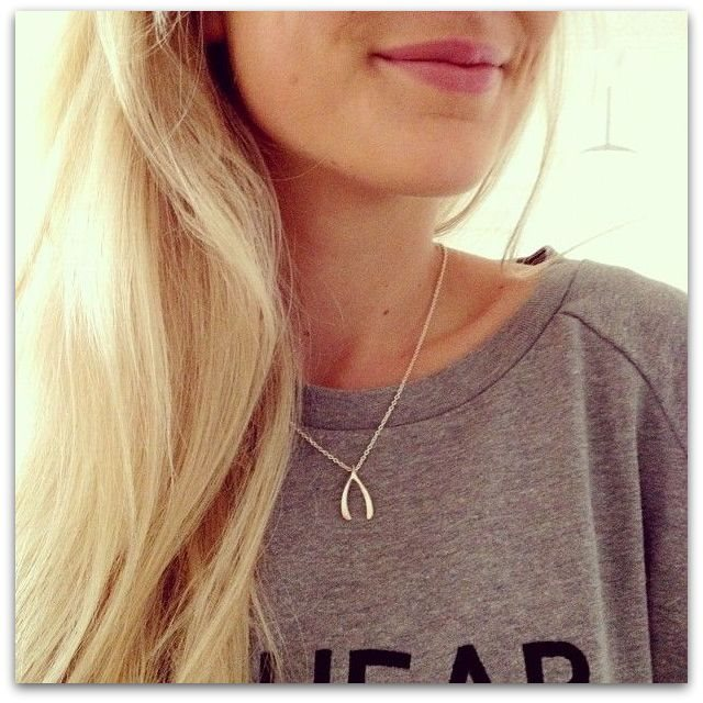 wishbone halsband silver