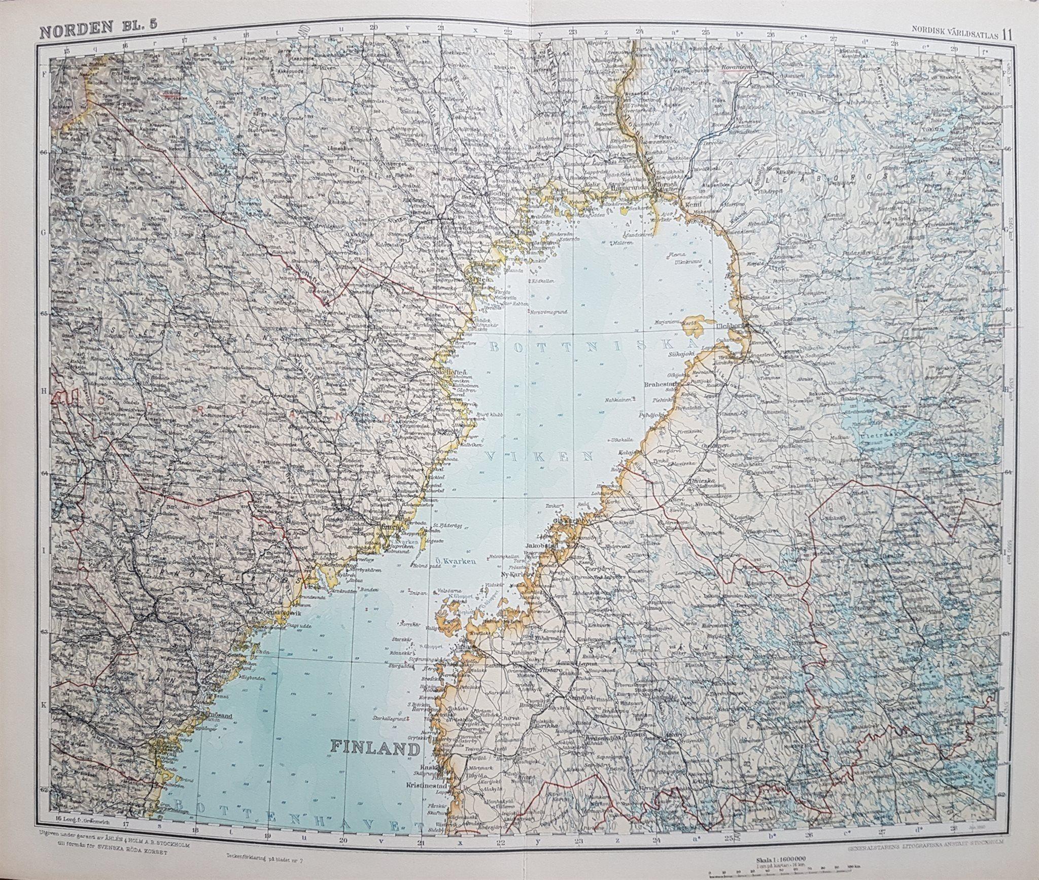Karta Syd Norge.Akta Antik Karta Over Norra Sverige Norge Finla 343031861 ᐈ Kop
