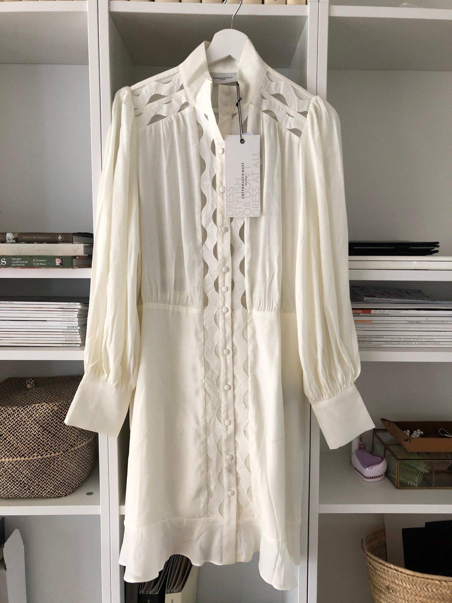 Copenhagen muse vit klänning helt ny strlk M (410210270) ᐈ