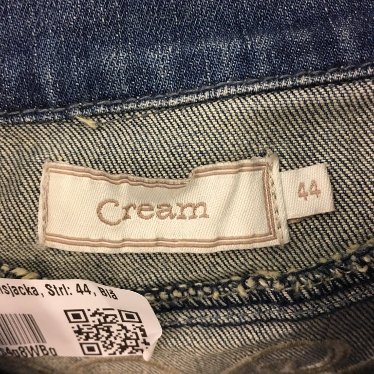 Cream jeansjacka