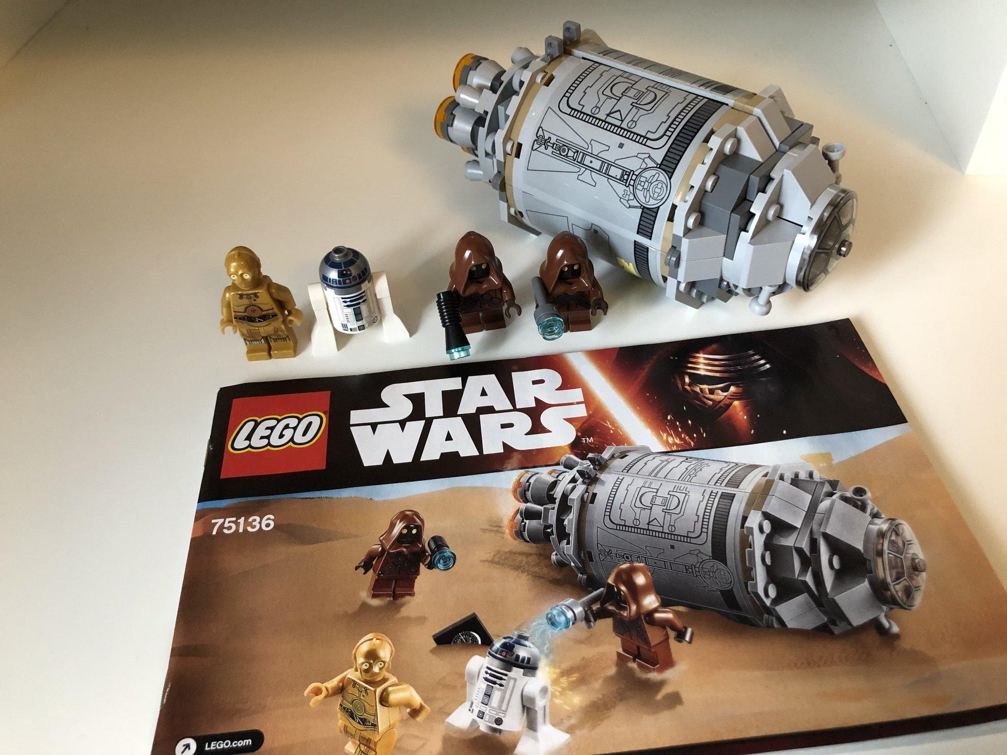LEGO STAR WARS Droid Escape Pod 75136C-3PO R2-D2 Jawas