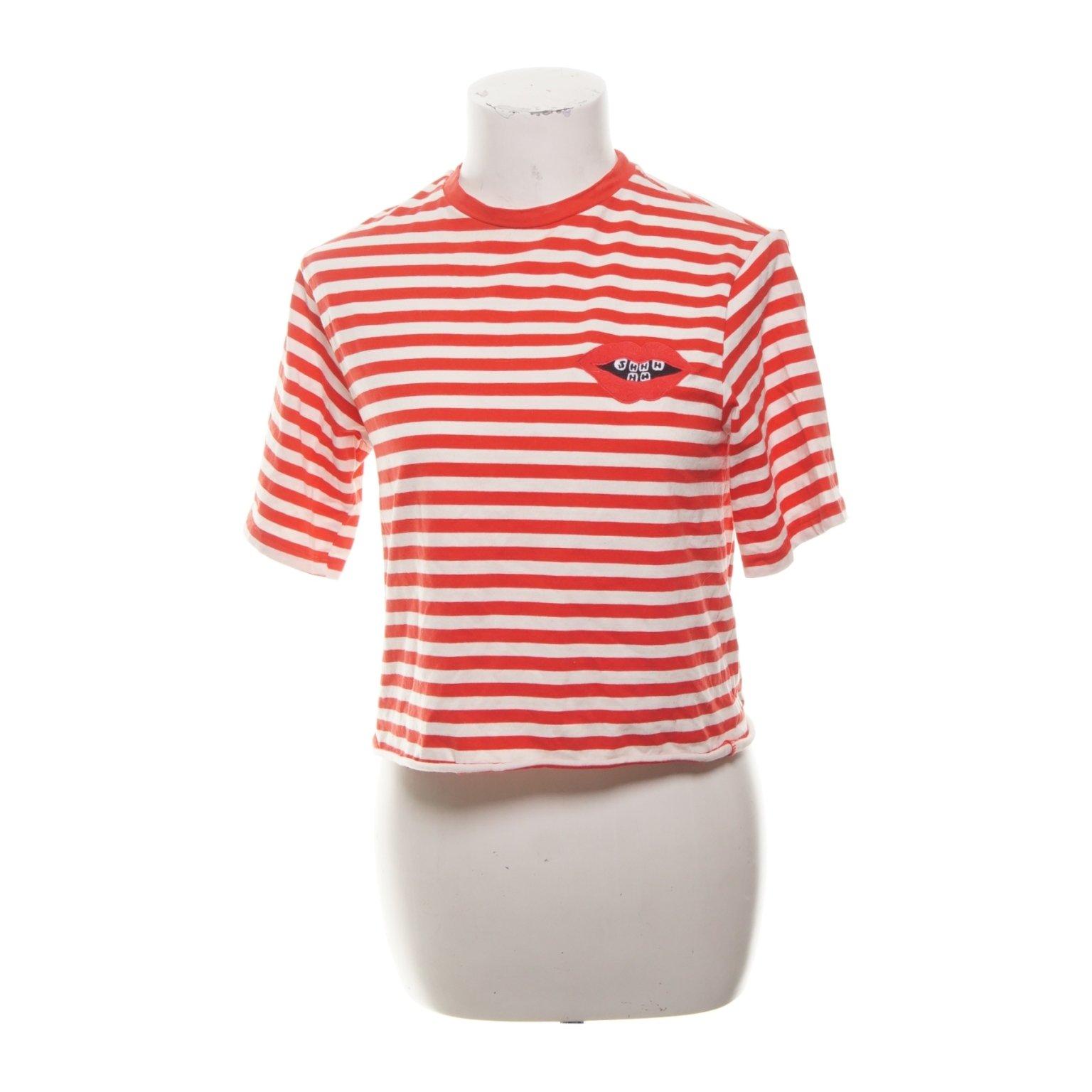 H&M t shirt, strl 34, vit