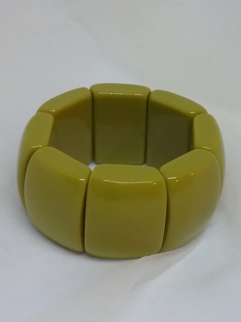 Retro armband plast olivgrönt bret.. (307585166) ᐈ vintagecorner på ... 918d651f1eed8