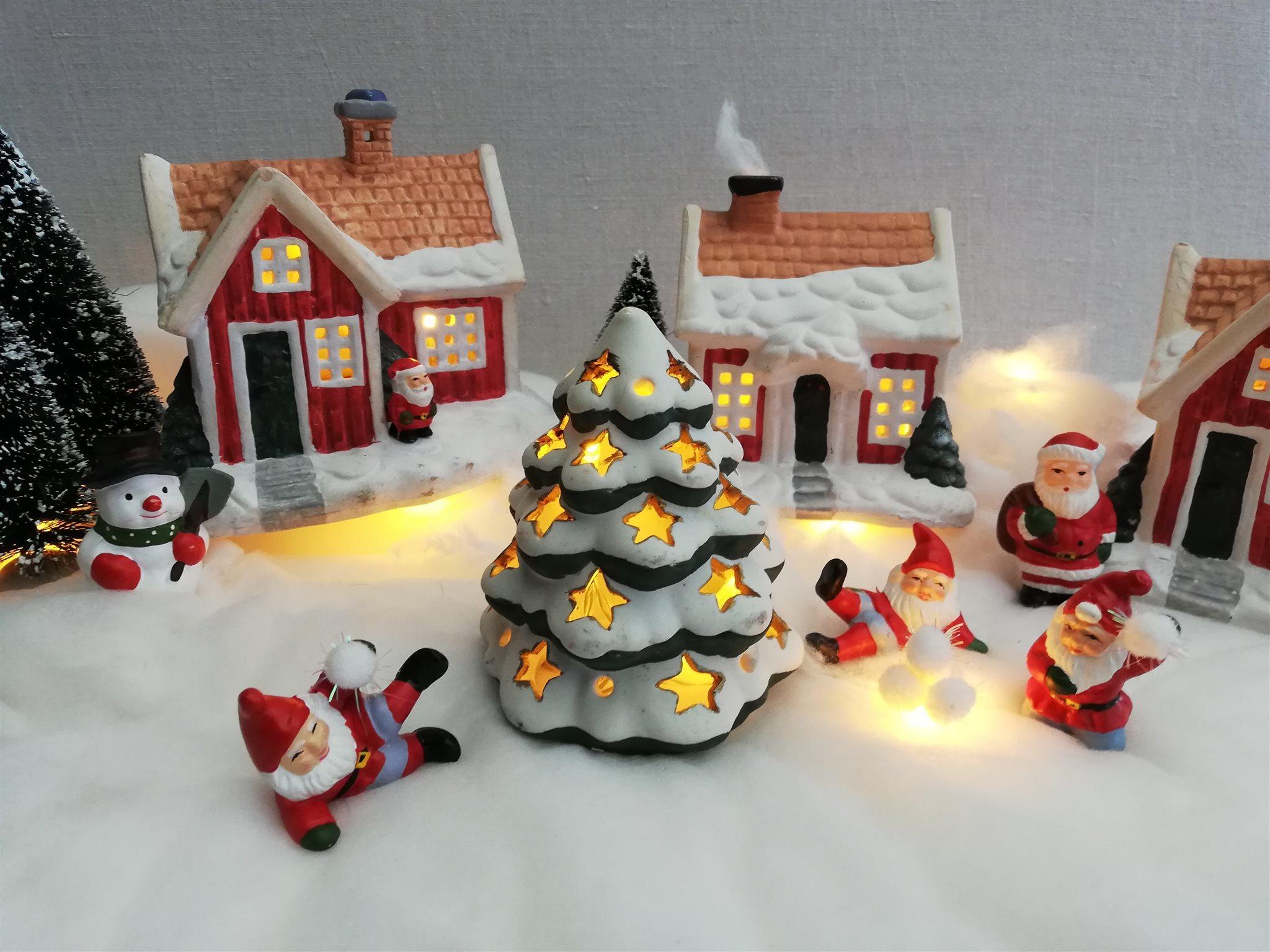 jullandskap med belysning
