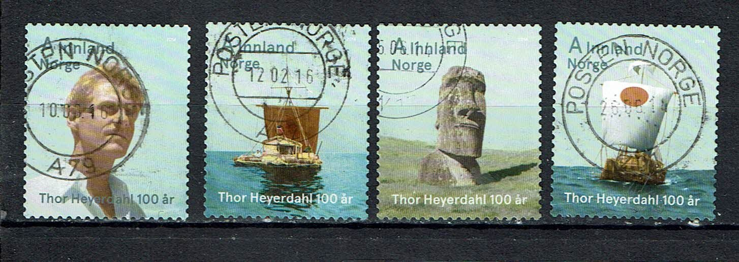 Norge  2014 The 100th Anniversary of the Birth of Thor Heyerdahl, 1914-2002