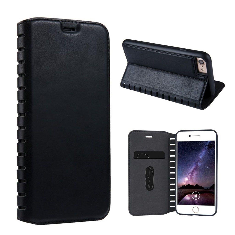 iPhone 7   8 Enfärgat läder fodral - Svart (299092832) ᐈ WePack på ... 9987e1d852649