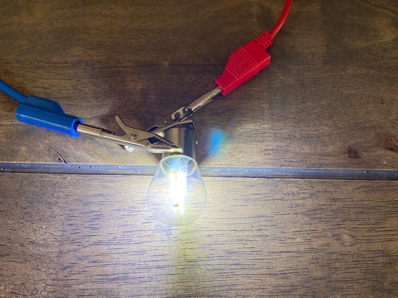 Nyhet! LED lampa 2 pack, BA15S KLAR VIT 12 24v (415674432