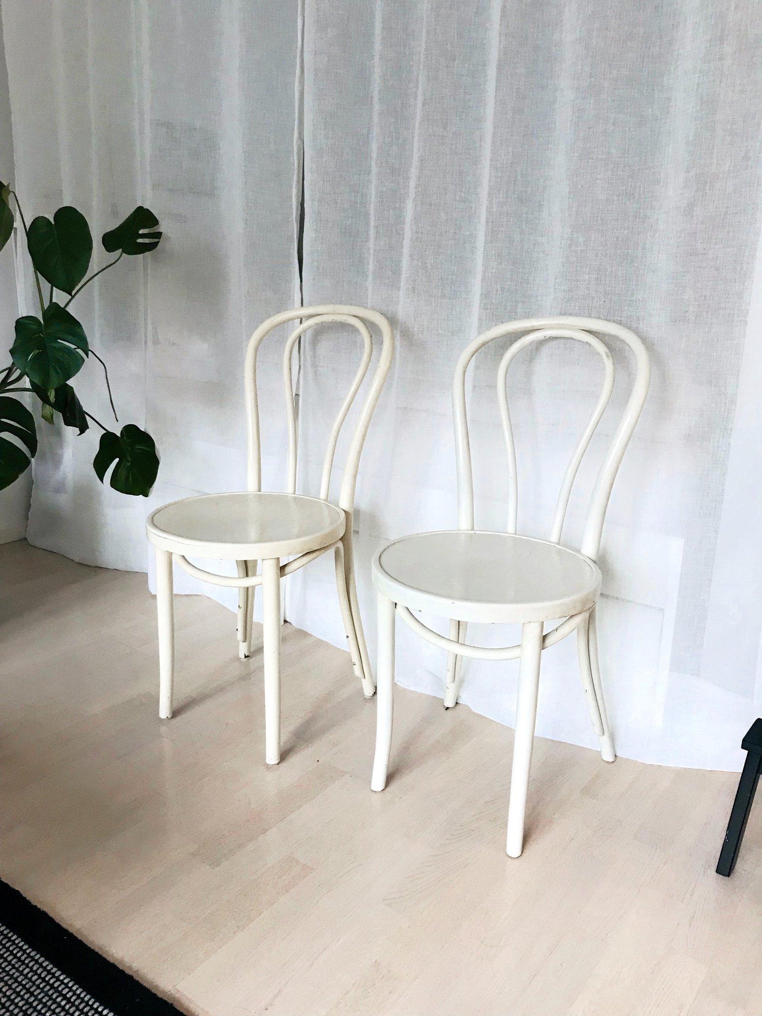 2 st Öglan Vintage stolar i trä 60 tal Gillis Lundgren IKEA trästolar
