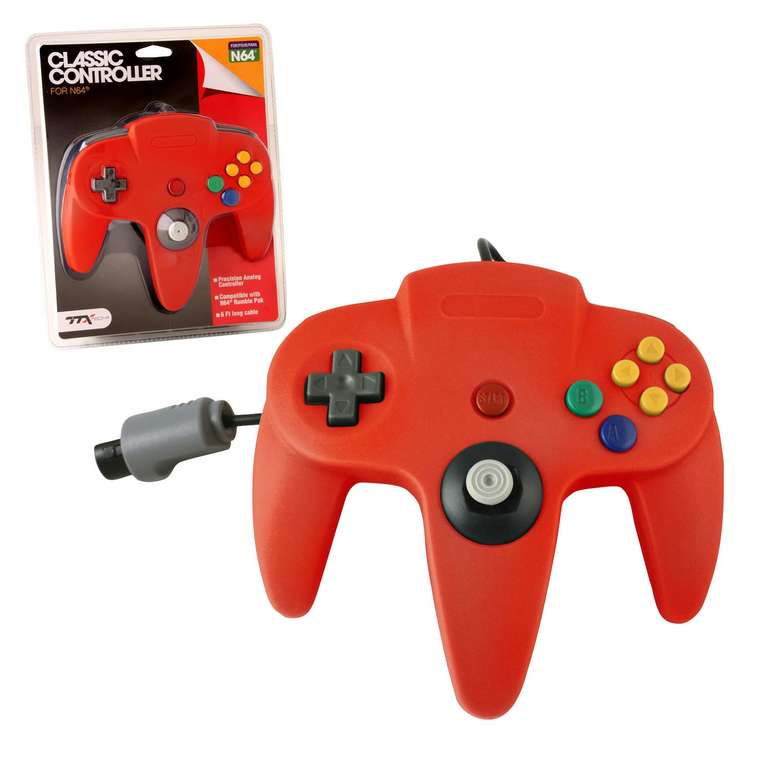 N64 Classic Controller Red TTX Tech
