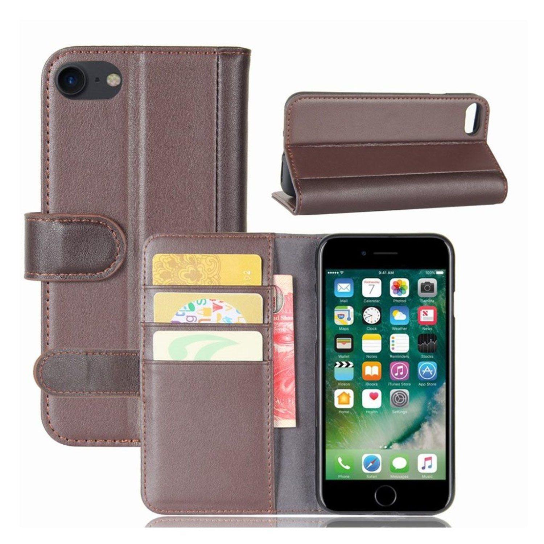 iPhone 7   8 Fodral i äkta läder - Brun (299092837) ᐈ WePack på Tradera 028ae291643d2