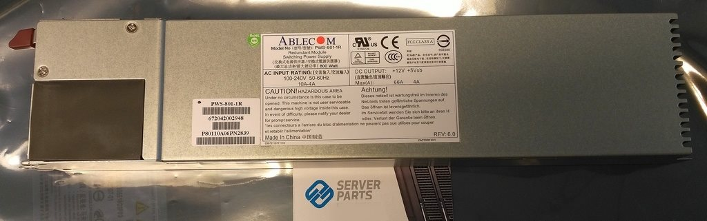 Supermicro 1U Hot-plug PSU 800W PWS-801-1R