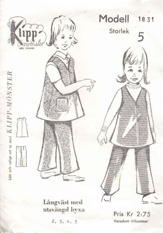 Förklädeklänning till barn
