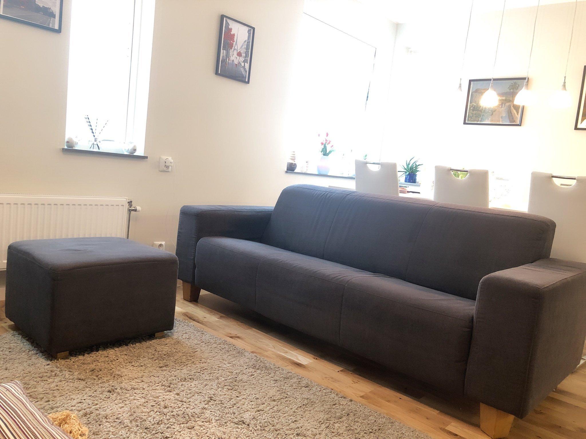Nykomna Fin grå 3-sit soffa med fotpall från Mio (359927685) ᐈ Köp på Tradera BI-69