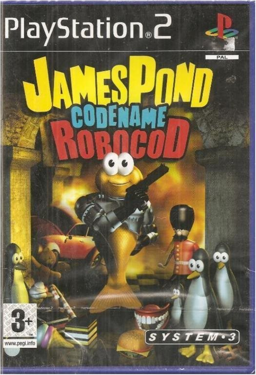JAMES POND CODENAME : ROBOCOD  ( NY & INPLASTAT PS 2 SPEL)