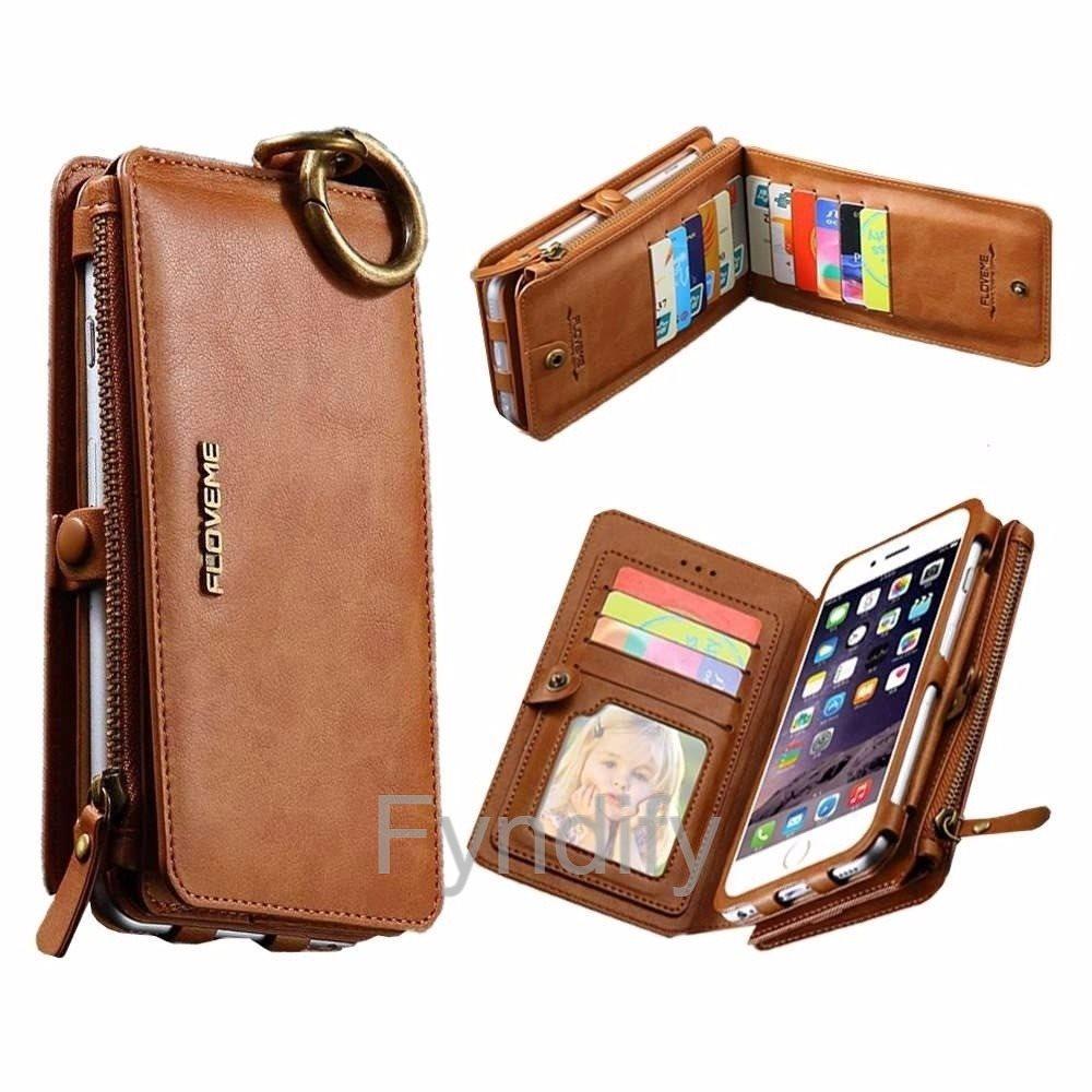 Mobilskal   Plånbok Läder iPhone 5s Brun (278340023) ᐈ Fyndify på ... df586d42f9c6f