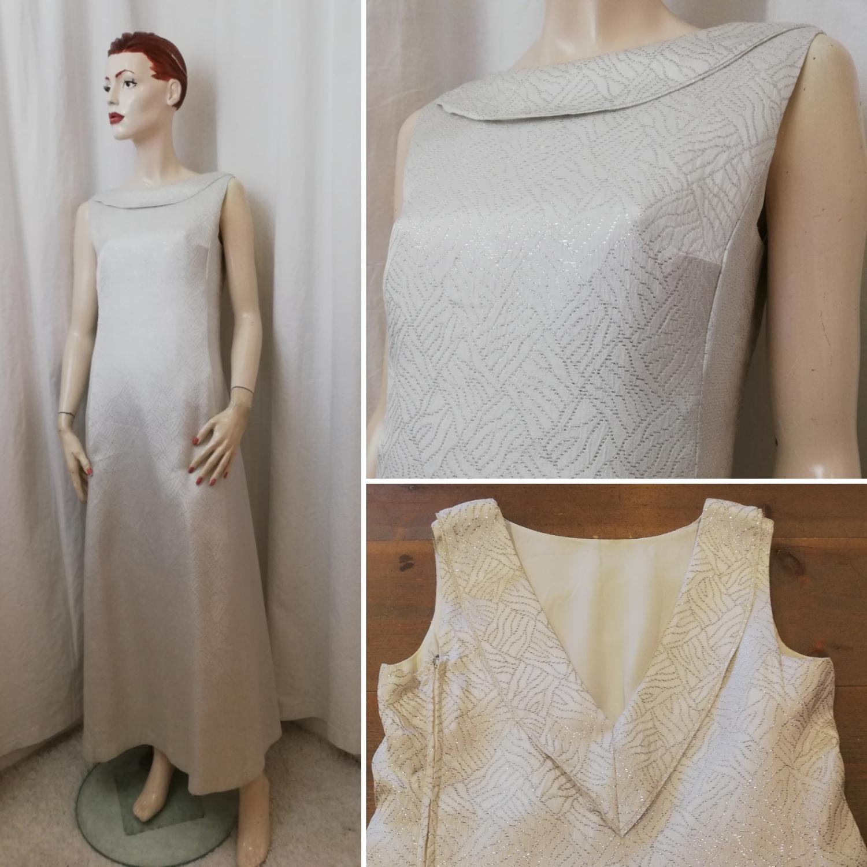 Vintage Retro lång vit klänning me.. (395976370) ᐈ