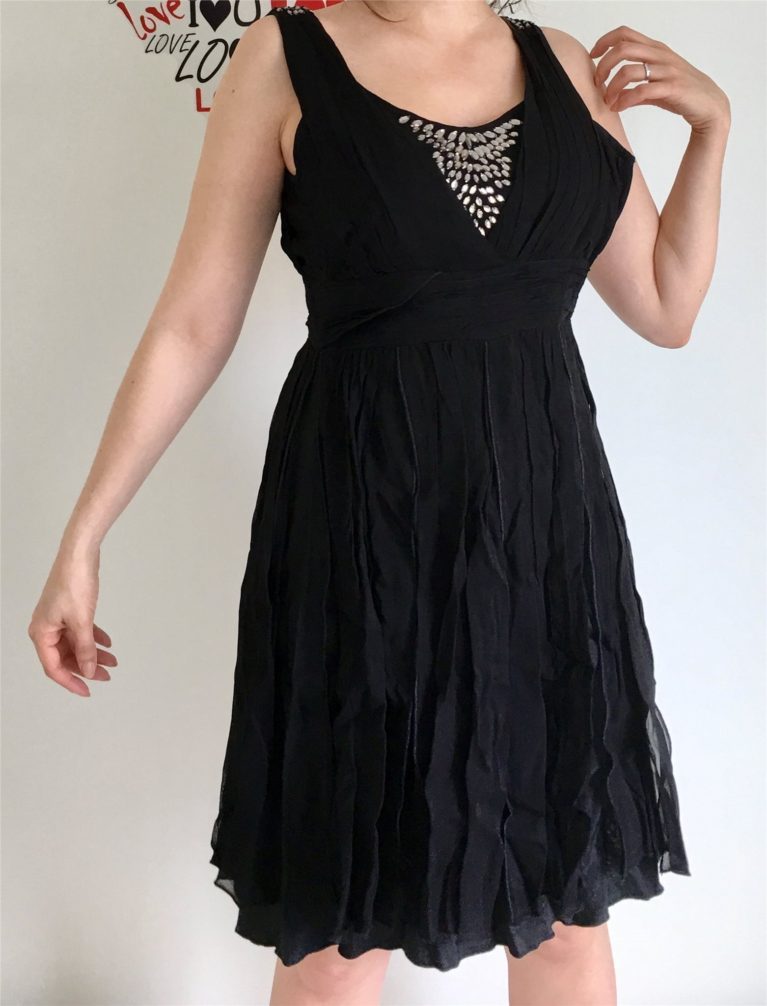 svart klänning fest