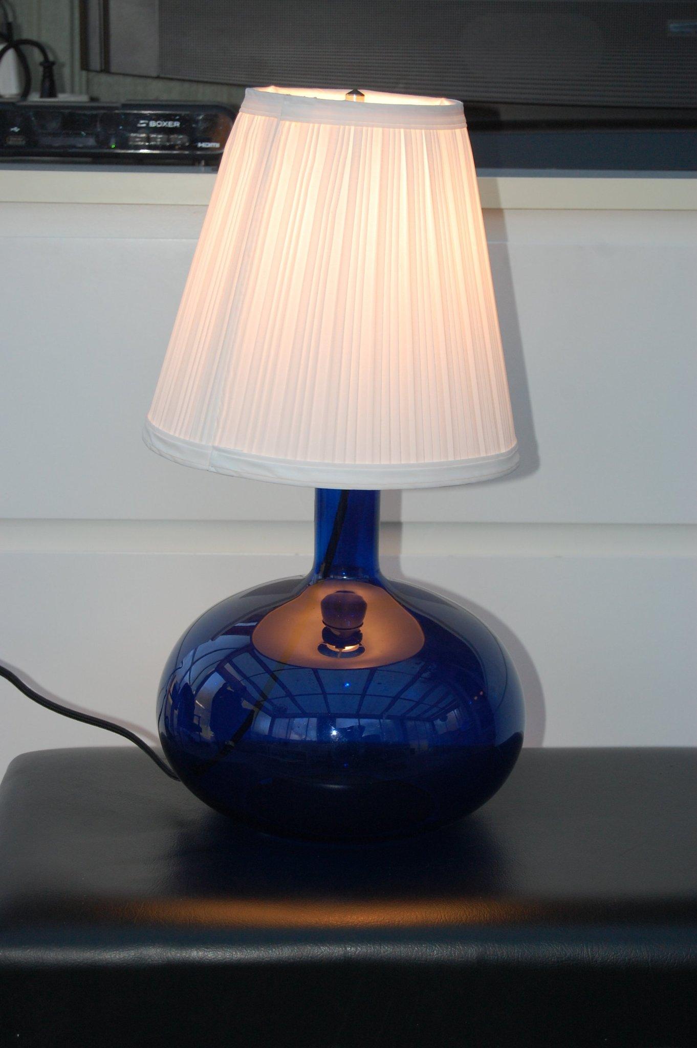 IKEA Bordslampa Ljusås Uvås Blått glas (422755354) ᐈ
