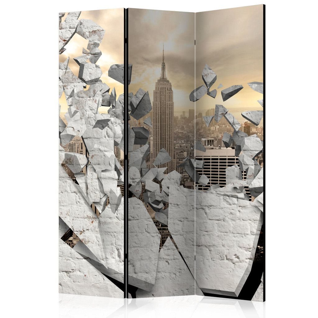 Rumsavdelare - City behind the Wall Room Dividers 135x172