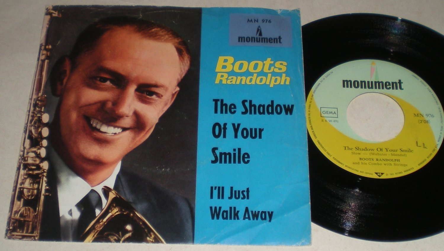 Boots Randolph 45/PS The shadow of your smile 1966
