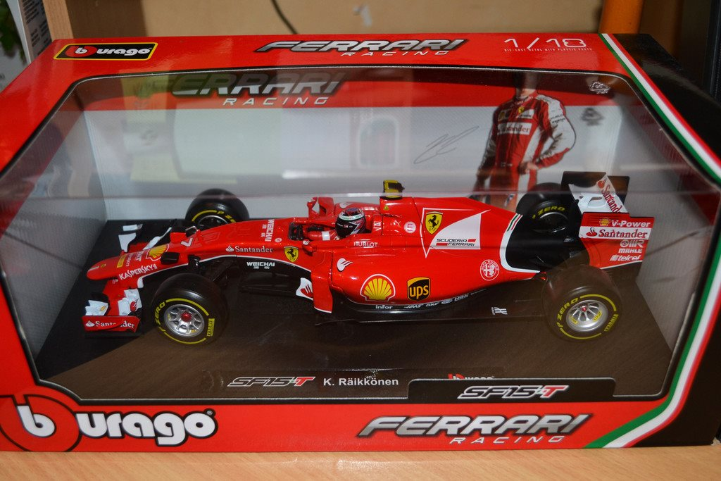 Ferrari F1 SF15-T nr 7 Kimi Raikkonen Finland 2015 1:18 Rally Collection Formula