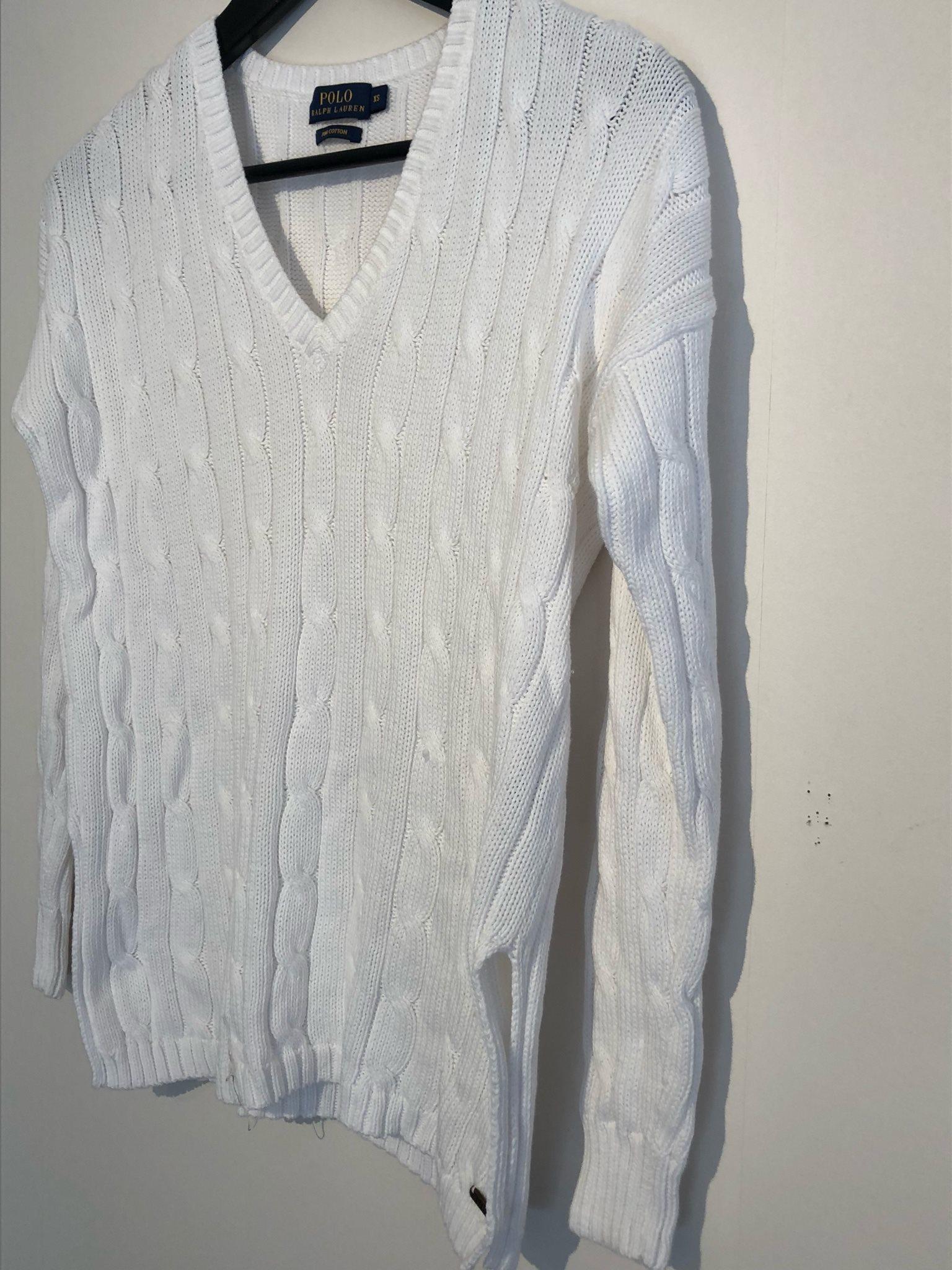 ralph lauren vit tröja